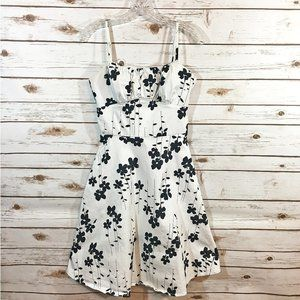 A.P.N.Y. Black and White Floral Dress - Size 10
